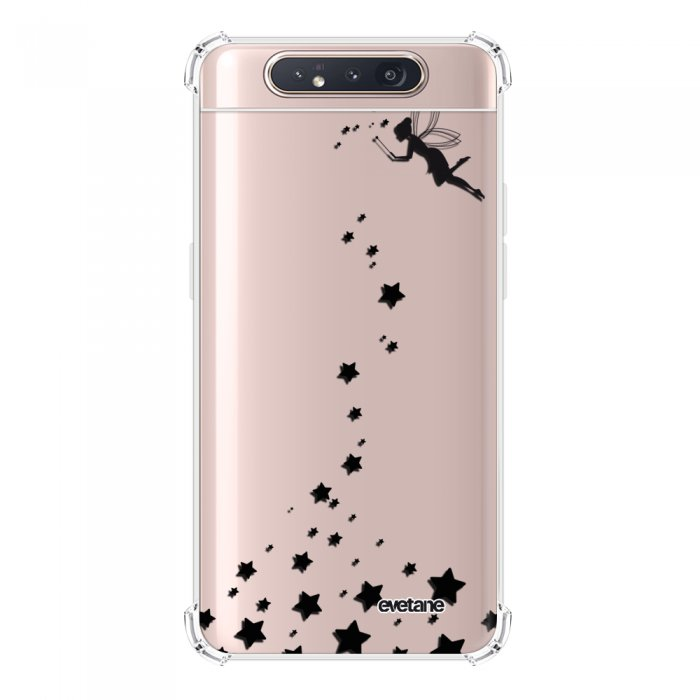 Coque Samsung Galaxy A80 anti-choc souple angles renforcés transparente Fée Evetane.