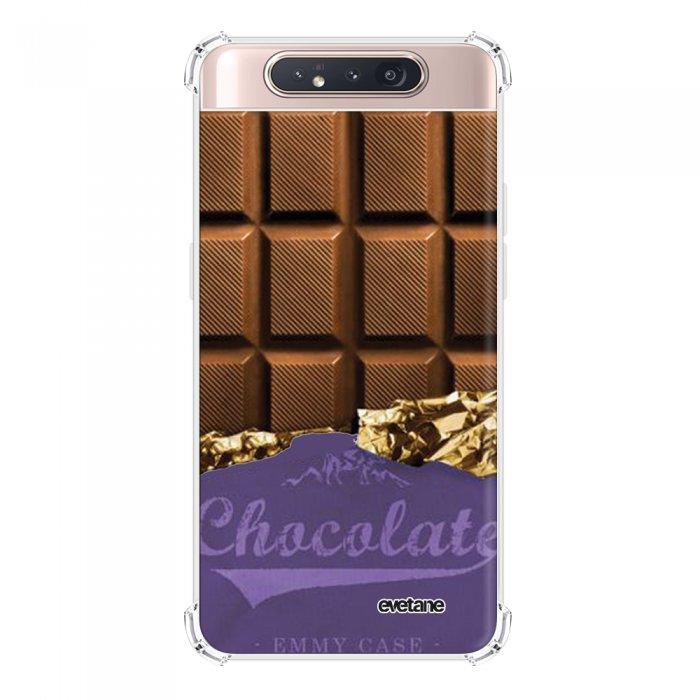 Coque Samsung Galaxy A80 anti-choc souple angles renforcés transparente Chocolat Evetane.