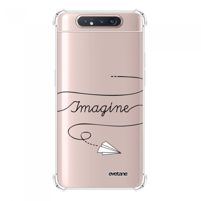 Coque Samsung Galaxy A80 anti-choc souple angles renforcés transparente Imagine Evetane.