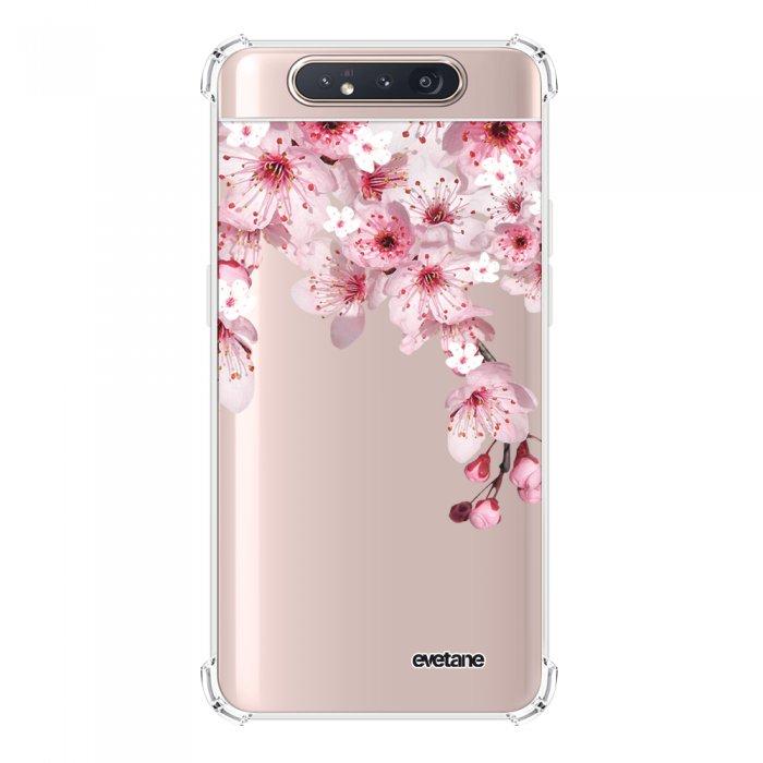 Coque Samsung Galaxy A80 anti-choc souple angles renforcés transparente Cerisier Evetane.