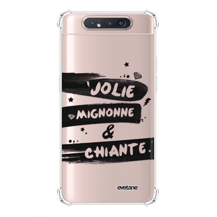 Coque Samsung Galaxy A80 anti-choc souple angles renforcés transparente Jolie Mignonne et chiante Evetane.