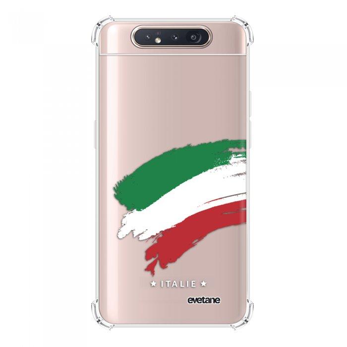 Coque Samsung Galaxy A80 anti-choc souple angles renforcés transparente Italie Evetane.