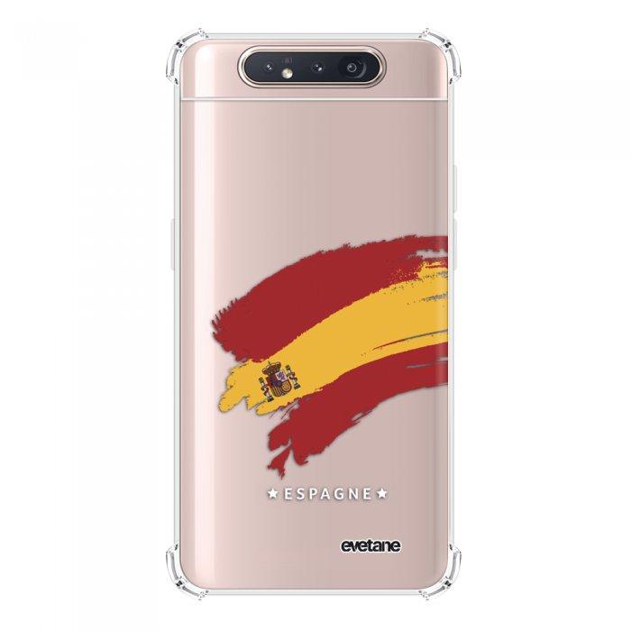 Coque Samsung Galaxy A80 anti-choc souple angles renforcés transparente Espagne Evetane.