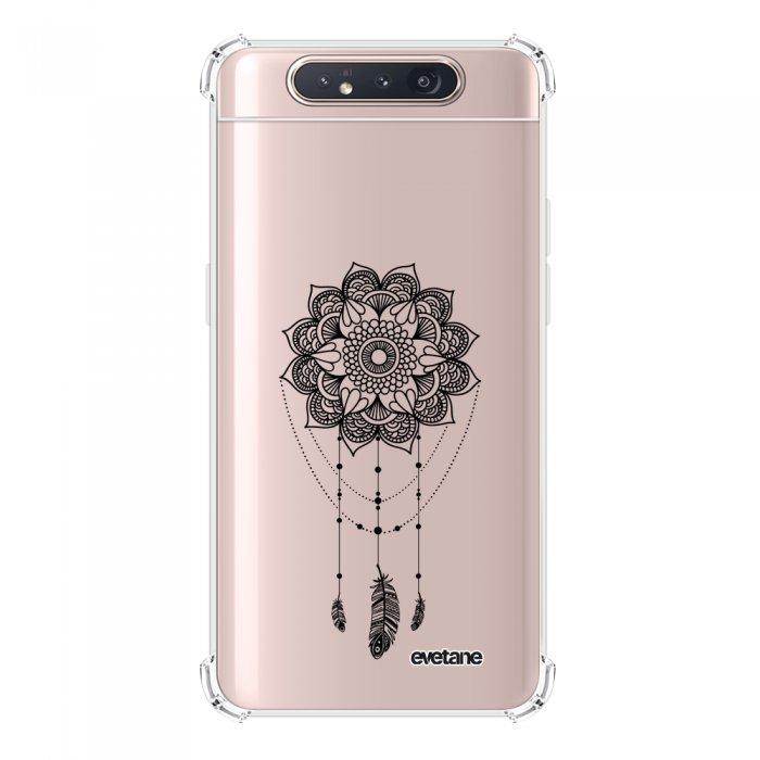 Coque Samsung Galaxy A80 anti-choc souple angles renforcés transparente Tattoo Evetane.