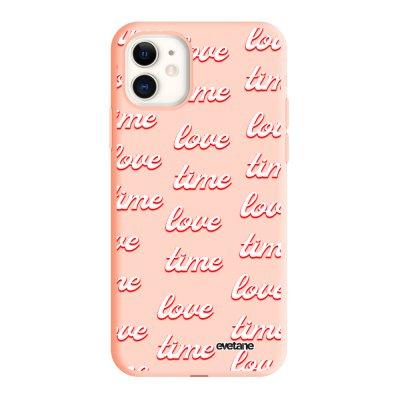 Coque iPhone 12 Mini Silicone Liquide Douce Love Time Evetane.