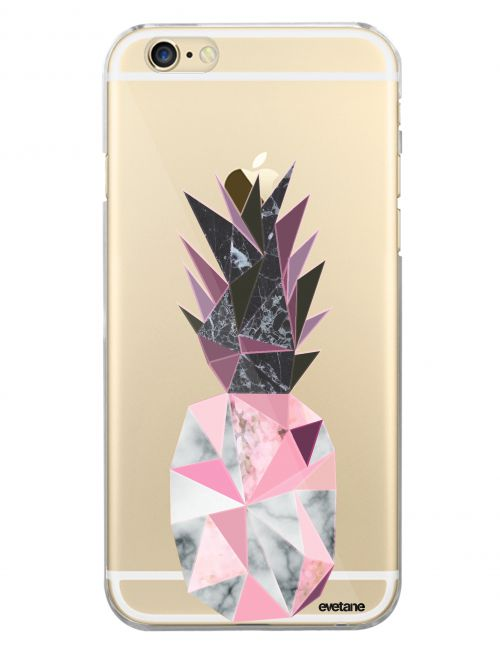 coque rigide transparent ananas geometrique marbre pour iphone 6 6s