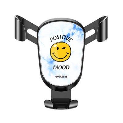 Support téléphone voiture Positive mood Motif Ecriture Tendance Evetane