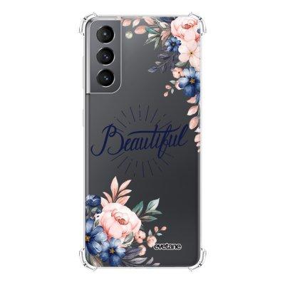 Coque Samsung Galaxy S21 5G anti-choc souple angles renforcés transparente Beautiful Evetane.