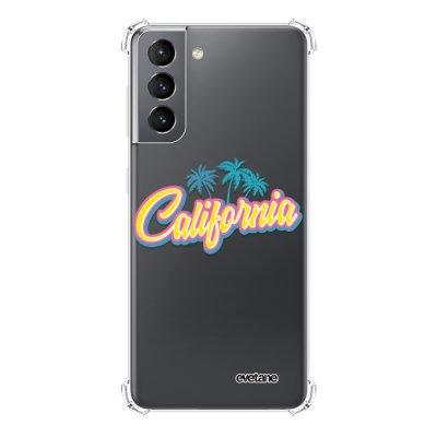 Coque Samsung Galaxy S21 5G anti-choc souple angles renforcés transparente California Evetane.
