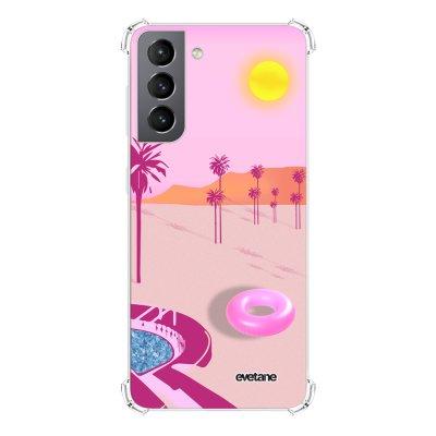 Coque Samsung Galaxy S21 5G anti-choc souple angles renforcés transparente Desert Dream Evetane.