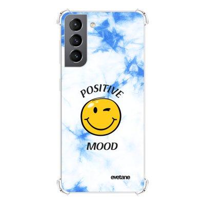 Coque Samsung Galaxy S21 5G anti-choc souple angles renforcés transparente Positive mood Evetane.
