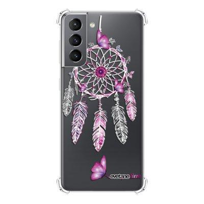 Coque Samsung Galaxy S21 5G anti-choc souple angles renforcés transparente Carpe diem Evetane.