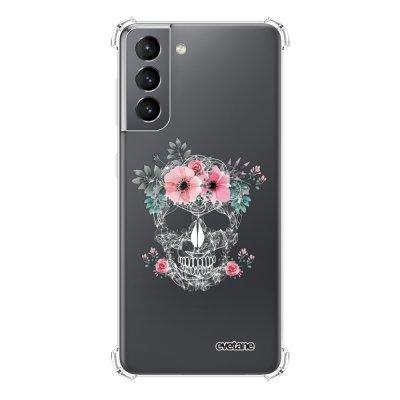 Coque Samsung Galaxy S21 5G anti-choc souple angles renforcés transparente Crâne Evetane.