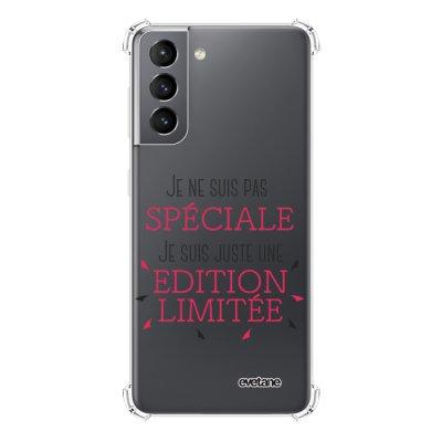 Coque Samsung Galaxy S21 5G anti-choc souple angles renforcés transparente Spéciale édition limitée Evetane.