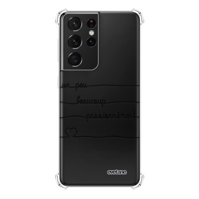 Coque Samsung Galaxy S21 Ultra 5G anti-choc souple angles renforcés transparente Un peu, Beaucoup, Passionnement Evetane.