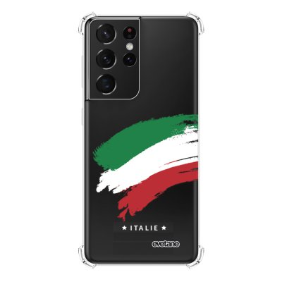 Coque Samsung Galaxy S21 Ultra 5G anti-choc souple angles renforcés transparente Italie Evetane.