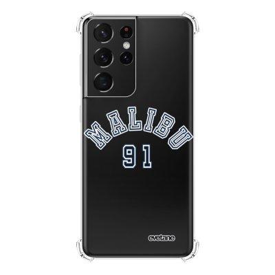 Coque Samsung Galaxy S21 Ultra 5G anti-choc souple angles renforcés transparente Malibu 91 Evetane.