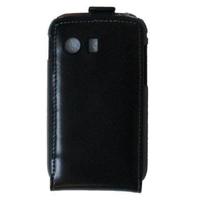 Etui clapet similicuir noir Samsung 5360
