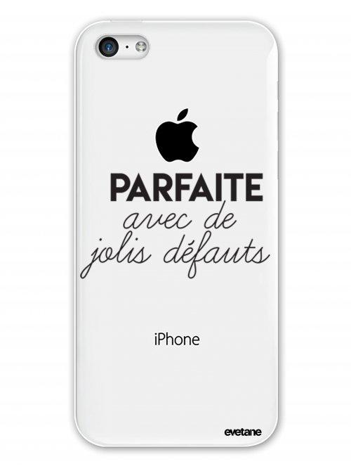 coque rigide transparent parfaite avec de jolis defauts pour iphone 5c