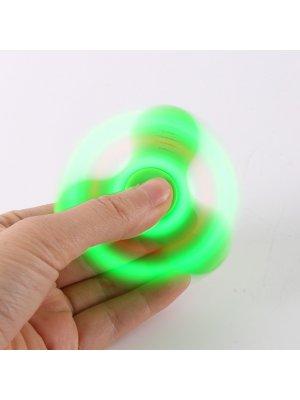 Fidget Spinner vert avec Haut Parleur sans fil bluetooth et LED