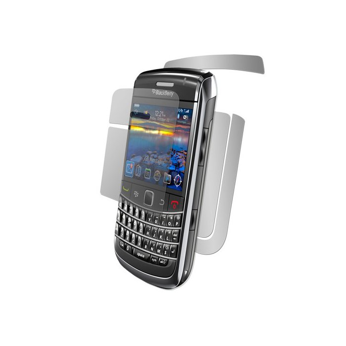 Set de 2 films avant et arriere de haute protection blackberry 9700
