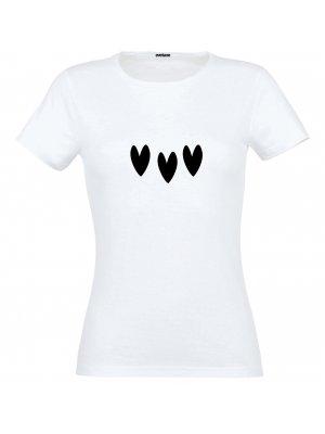 T-shirt Cœurs Noirs Taille L