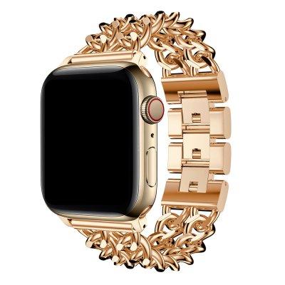Bracelet chaîne en acier inoxydable Rose Gold Compatible Apple Watch 38-40
