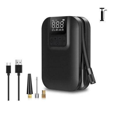 Mini pompe à Air électrique 5000 mAh noir