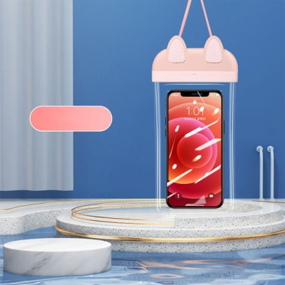 Pochette waterproof  IPX8 pour Smartphone jusqu'à 7 - rose