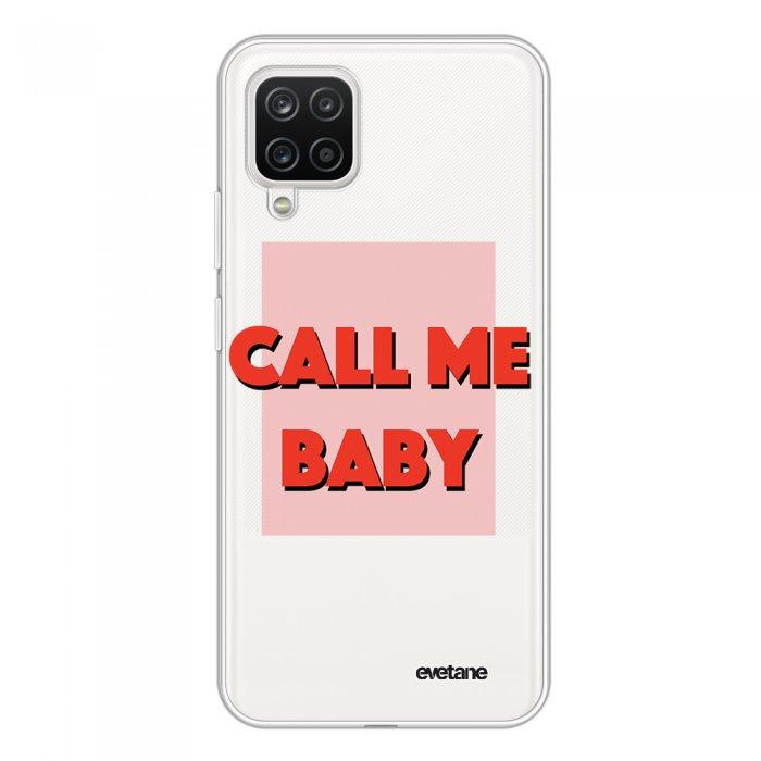Coque Samsung Galaxy A12 360 intégrale transparente Call me baby Tendance Evetane.