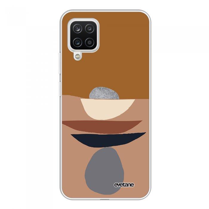 Coque Samsung Galaxy A12 360 intégrale transparente Déco de pierres Tendance Evetane.