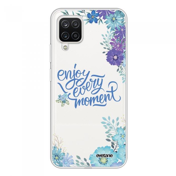 Coque Samsung Galaxy A12 360 intégrale transparente Enjoy every moment Tendance Evetane.