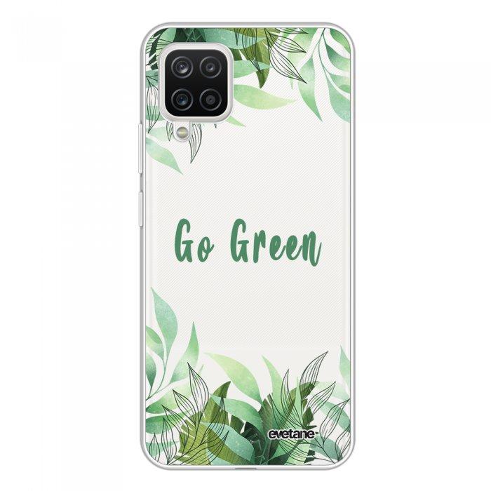 Coque Samsung Galaxy A12 360 intégrale transparente Go green Tendance Evetane.