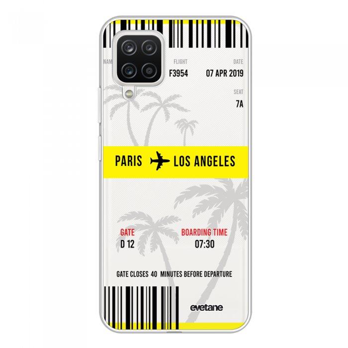 Coque Samsung Galaxy A12 360 intégrale transparente Blllet Paris-Los Angeles Tendance Evetane.