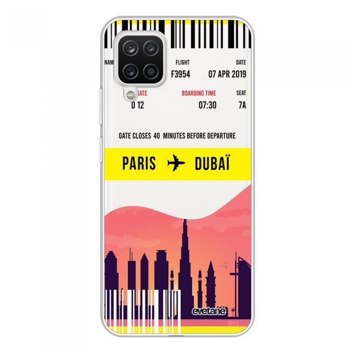 Coque Samsung Galaxy A12 360 intégrale transparente Blllet Paris-Dubaî Tendance Evetane.