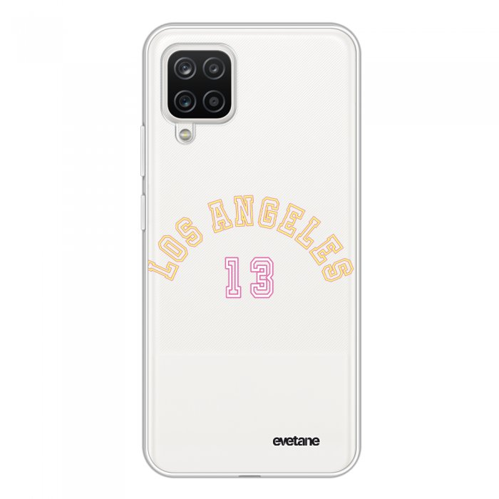 Coque Samsung Galaxy A12 360 intégrale transparente Los Angeles 13 Tendance Evetane.