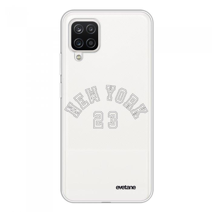 Coque Samsung Galaxy A12 360 intégrale transparente New York 23 Tendance Evetane.