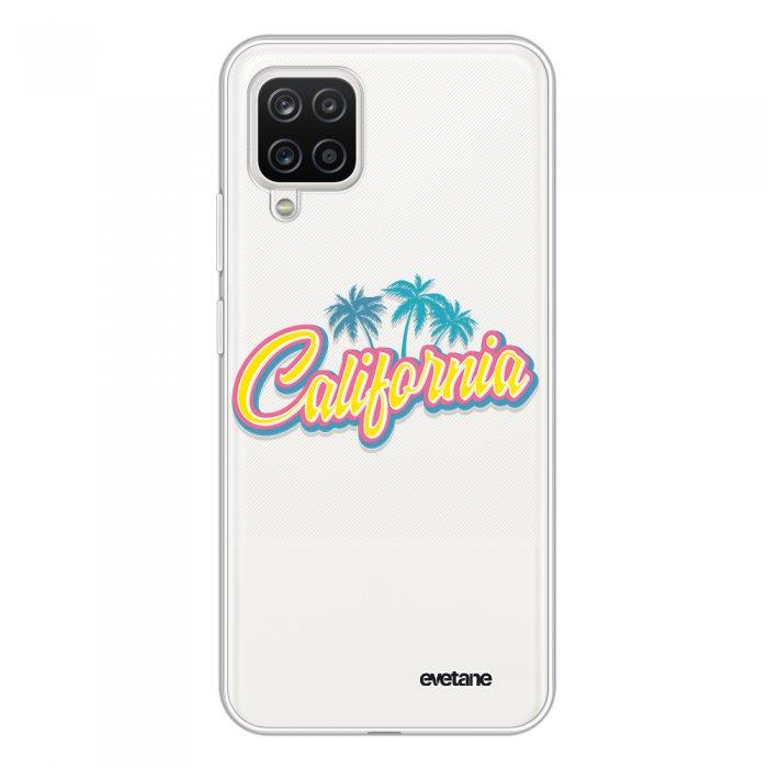 Coque Samsung Galaxy A12 360 intégrale transparente California Tendance Evetane.