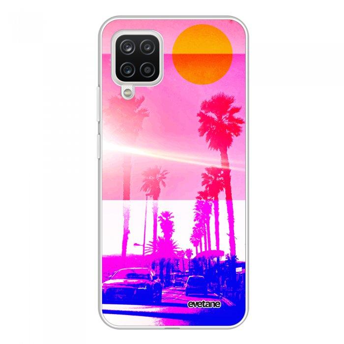 Coque Samsung Galaxy A12 360 intégrale transparente Sunset Tendance Evetane.