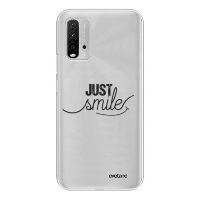 Coque Xiaomi Redmi 9T 360 intégrale transparente Just Smile Tendance Evetane.