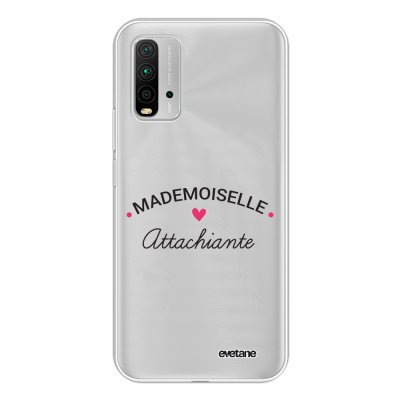 Coque Xiaomi Redmi 9T 360 intégrale transparente Mademoiselle Attachiante Tendance Evetane.