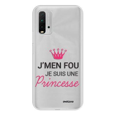 Coque Xiaomi Redmi 9T 360 intégrale transparente Je suis une princesse Tendance Evetane.