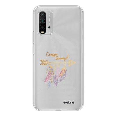 Coque Xiaomi Redmi 9T 360 intégrale transparente Carpe Diem Or Tendance Evetane.