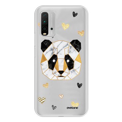 Coque Xiaomi Redmi 9T 360 intégrale transparente Panda Géométrique Tendance Evetane.