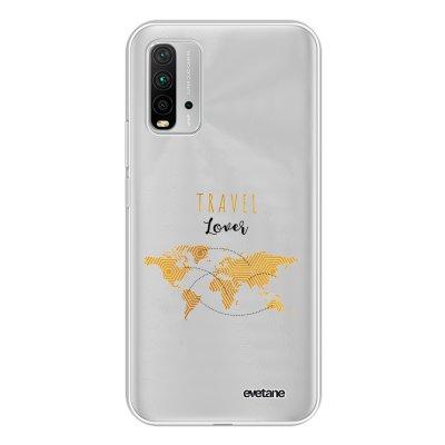 Coque Xiaomi Redmi 9T 360 intégrale transparente Travel Lover Tendance Evetane.
