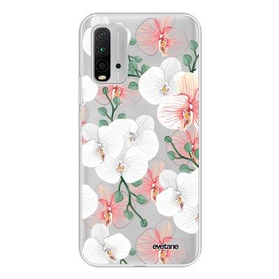 Coque Xiaomi Redmi 9T 360 intégrale transparente Orchidées Tendance Evetane.