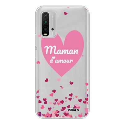 Coque Xiaomi Redmi 9T 360 intégrale transparente Maman d'amour coeurs Tendance Evetane.