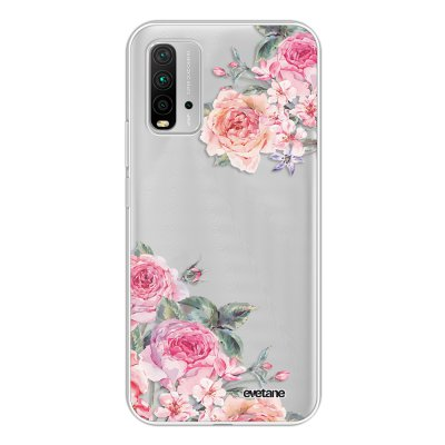 Coque Xiaomi Redmi 9T 360 intégrale transparente Roses roses Tendance Evetane.
