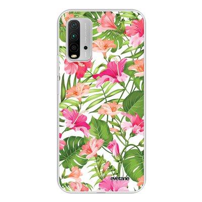 Coque Xiaomi Redmi 9T 360 intégrale transparente Fleurs Tropicales Tendance Evetane.
