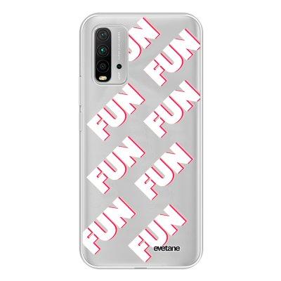 Coque Xiaomi Redmi 9T 360 intégrale transparente Fun Blanc Tendance Evetane.